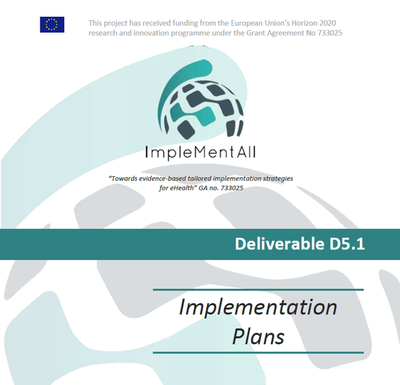 Screenshot IMA Deliverable 5.1 Implementation plans